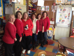 Our teachers in red heart disease in women awareness in February